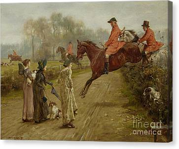 Watching The Hunt Canvas Print