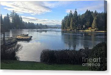 Canvas Print featuring the photograph Watching The Ice Melt by Victor K