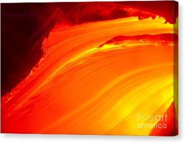 Watching The Lava Flow Canvas Print by Erik Aeder - Printscapes