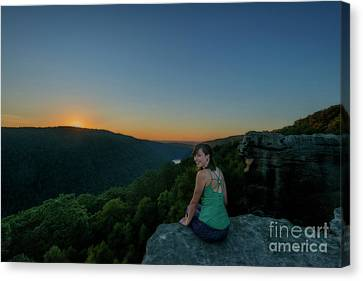 Watching The Sunset Canvas Print by Dan Friend