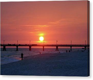Watching The Sunset Canvas Print by Sandy Keeton