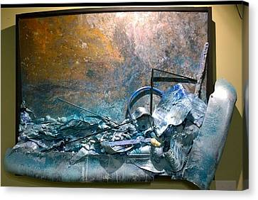 Canvas Print featuring the mixed media Water Abstract #31017 by Robert Anderson