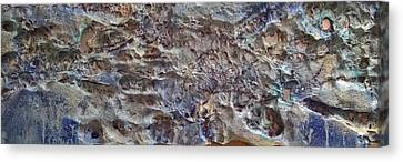 Canvas Print featuring the painting Water Abstract #3117 by Robert Anderson