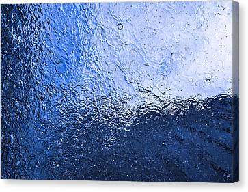 Water Abstraction - Blue Reflection Canvas Print by Alex Potemkin