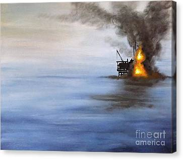 Water And Air Pollution Canvas Print