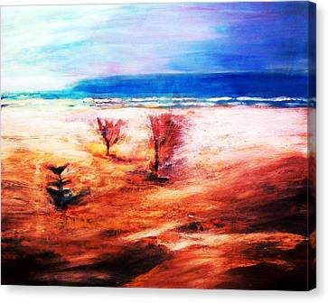 Canvas Print featuring the painting Water And Earth by Winsome Gunning