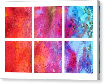 Merged Canvas Print - Water And Fire Abstract by Edward Fielding