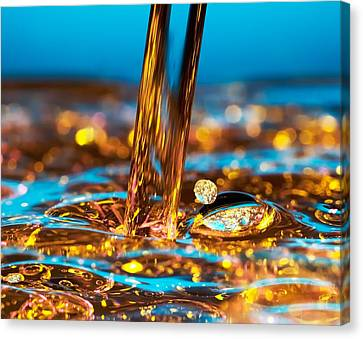 Water And Oil Canvas Print by Setsiri Silapasuwanchai