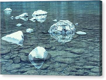 Water And Rocks Canvas Print by Svetlana Sewell