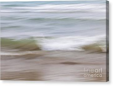 Water And Sand Abstract 4 Canvas Print by Elena Elisseeva
