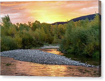 Water And Sky Canvas Print by Mary Hone