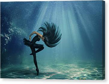 Water Ballet Canvas Print by Debby Herold