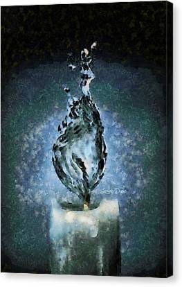 Water Candle Canvas Print by Leonardo Digenio