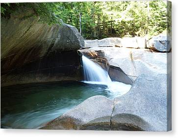 Canvas Print featuring the photograph Water-carved Rock by Kerri Mortenson