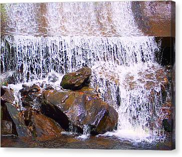 Canvas Print featuring the photograph Water Cascade by Roberta Byram