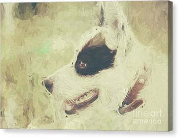 Designs On Face Canvas Print - Water Colour Art Of An Adorable Puppy Dog by Jorgo Photography - Wall Art Gallery
