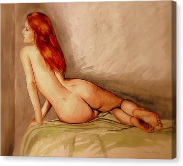Water Colour Nude 1 Canvas Print