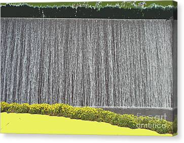 Canvas Print featuring the photograph Water Curtain by Bill Thomson