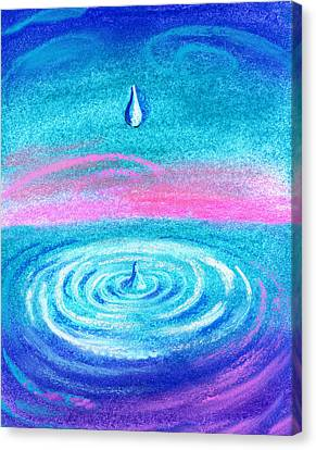 Water Drop Canvas Print by Leon Zernitsky