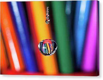 Water Drop Pencils Canvas Print