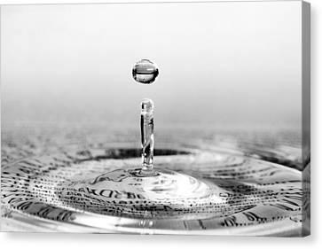 Water Drop Script Canvas Print