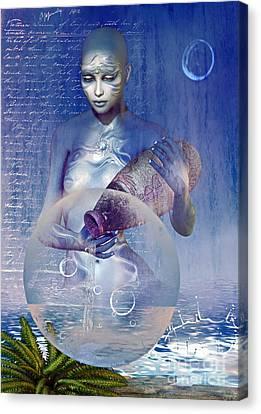 Water Elemental Canvas Print by Shadowlea Is