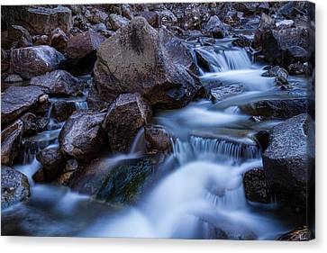 Water Falling On Boulder Creek Canvas Print by James BO  Insogna