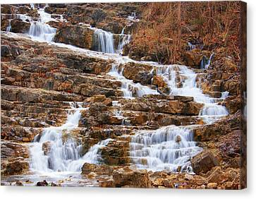 Water Flow Canvas Print by Rick Friedle