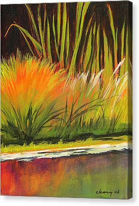 Water Garden Landscape 5 Canvas Print by Melody Cleary