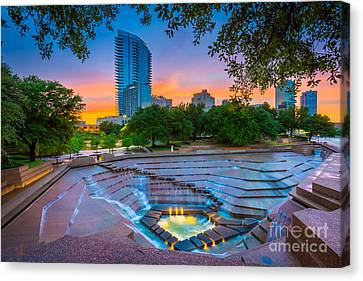 Water Gardens Sunset Canvas Print by Inge Johnsson