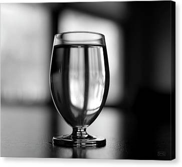 Canvas Print featuring the photograph Water Glass I Bw by David Gordon