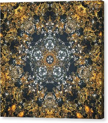 Canvas Print featuring the mixed media Water Glimmer 5 by Derek Gedney