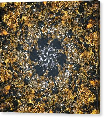 Canvas Print featuring the mixed media Water Glimmer 6 by Derek Gedney