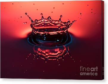 Water Hits Water Canvas Print