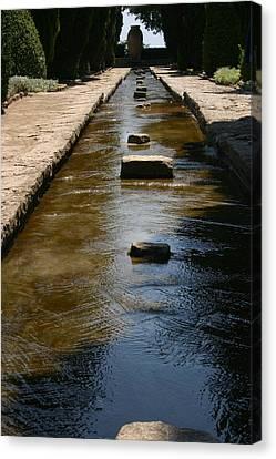 Water In The Balchik Garden Canvas Print
