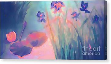 Water Iris Canvas Print by Holly Martinson