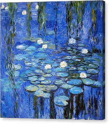 Aquatic Plant Canvas Print - water lilies a la Monet by Joachim G Pinkawa