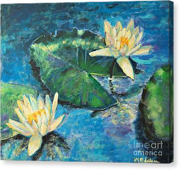 Canvas Print featuring the painting Water Lilies by Ana Maria Edulescu