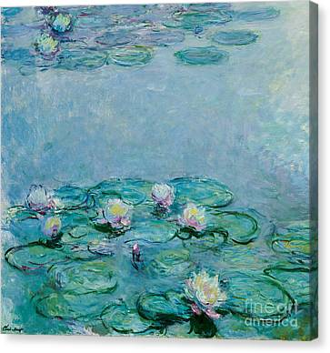 Pad Canvas Print - Water Lilies by Claude Monet