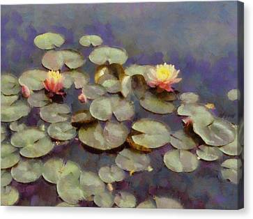 Canvas Print - Water Lilies Impressionistic by Ann Powell