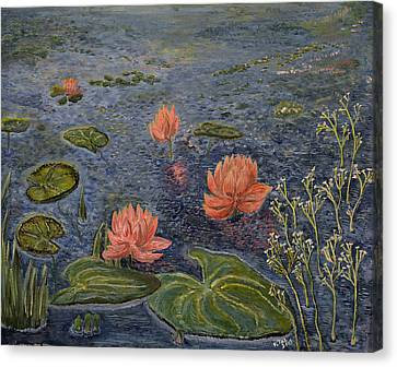Water Lilies Lounge Canvas Print by Felicia Tica