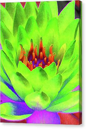 Water Lily - Blazing Green - Photopower 3390 Canvas Print