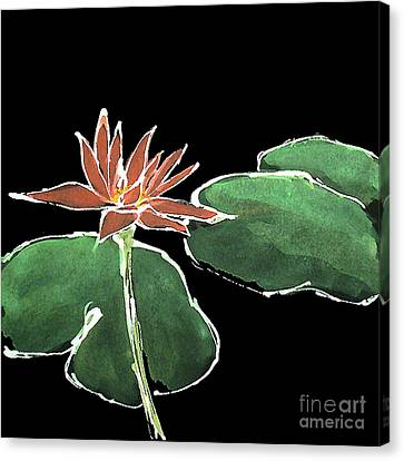 Water Lily-rouge Canvas Print