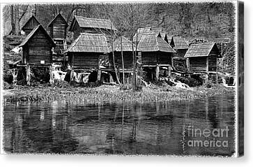 Water Mills On The River Pliva Canvas Print