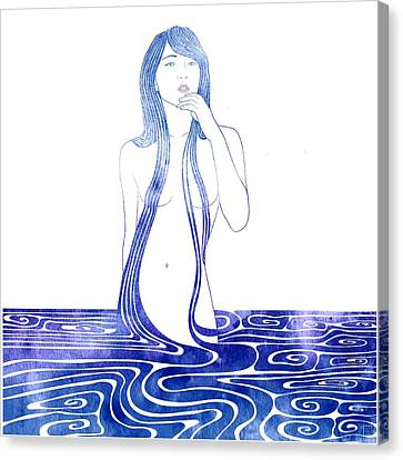 Water Nymph C Canvas Print