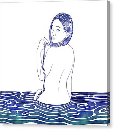 Water Nymph Lxxii Canvas Print