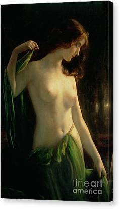 Woman Nude Canvas Print - Water Nymph by Otto Theodor Gustav Lingner