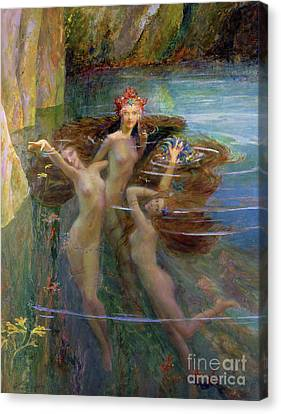 Water Nymphs Canvas Print by Gaston Bussiere