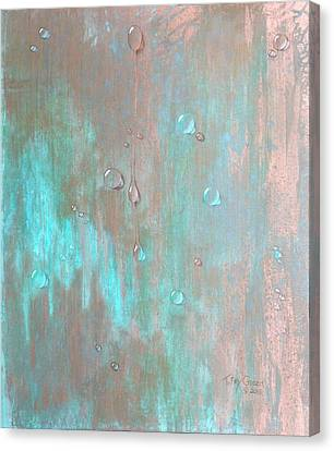 Water On Copper Canvas Print