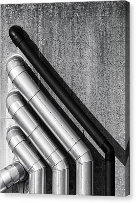 Water Pipes Canvas Print by Wim Lanclus
